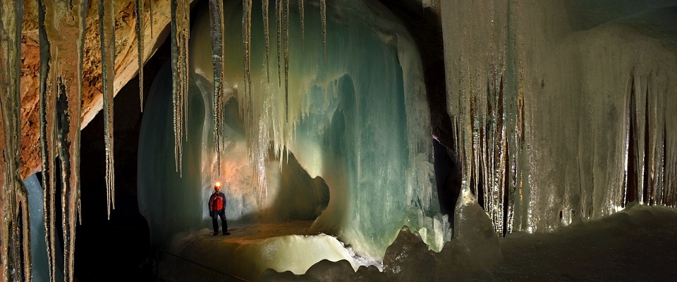 The largest ice cave on earth