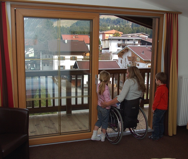 Wheelchair accessible balcony